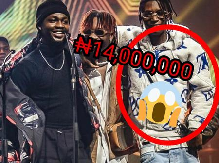 Reactions As Fans Reveal The Price Of Bella Smhurda Sweat Shirt He Wore To The 14th Headies Awards