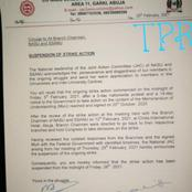 Joint Action Committee Of NASU and SSANU Releases Circular On Suspension Of Strike