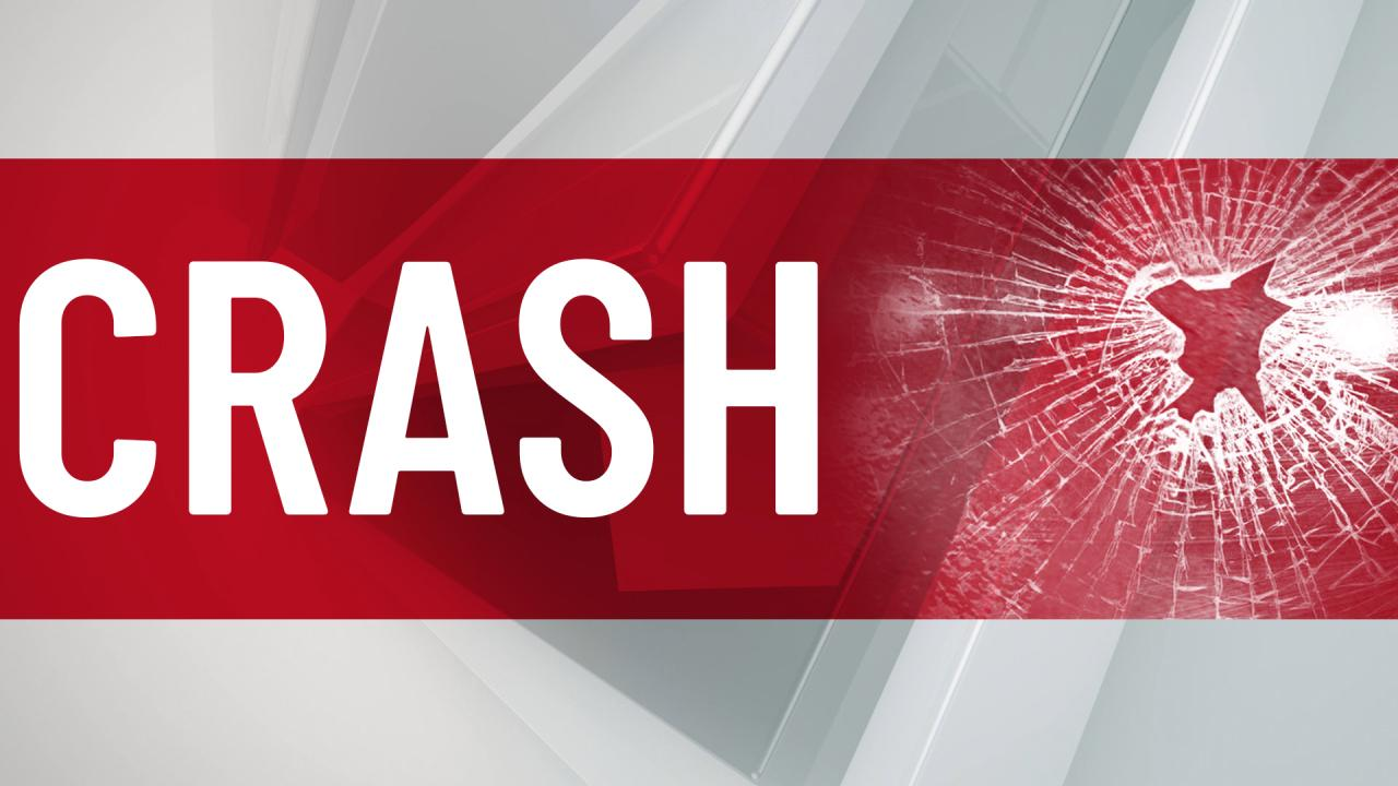 Rush Township road closed due to crash