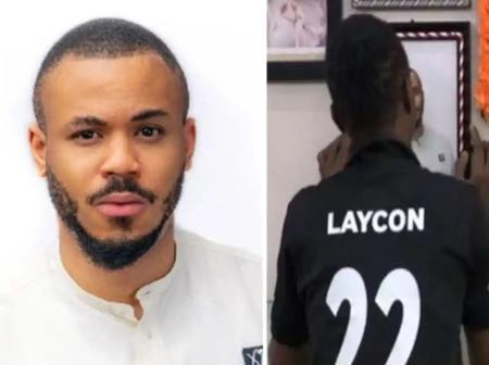 See What Laycon Was Spotted Doing To Ozo's Picture That Got Fans Talking