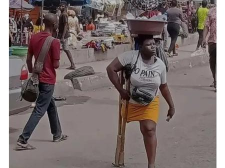 Hours Ago She Was Hawking Sachet Water, Today She Is A Millionaire