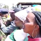 Police Officer Forced To Act Faster To Settle A Man Who Wanted To Interrupt Ruto's Rally in Kianjai