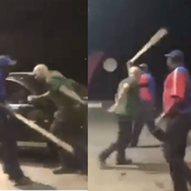 Angry Fuel Pump Attendants Beat Up a White Man For Calling Them Monkeys, Checkout Video And Photos
