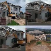 Angry Business Man Demolishes The House He Built For His Girlfriend After She Broke Up With Him