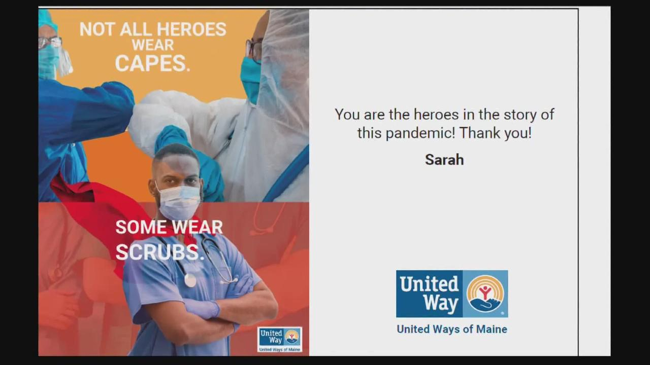 Mainers create cards for health care workers through new United Way campaign