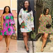 Here are Some Attractive Short and Long Ankara Gowns
