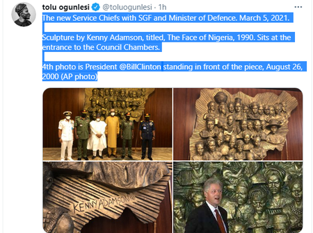 Check Out The Throwback Photo Of Bill Clinton At the Presidential Villa That Buhari's Aide Shared