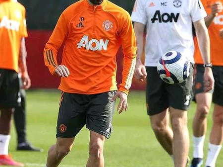 Photos of Bruno and other United in training ahead of Seagulls clash.