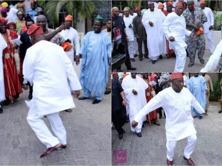 Obasanjo Is A Good Dancer, See Photos Of Him Displaying Some Of Him Steps