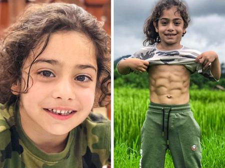 Check out this handsome six(6) year old boy with packs (PHOTOS)