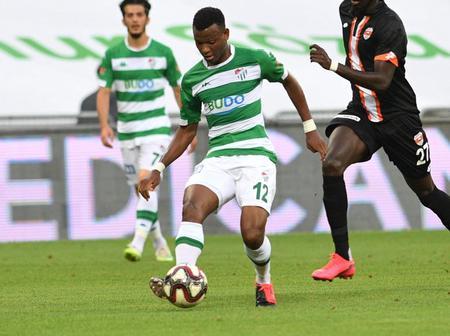 Super Eagles star delighted after helping promotion hopefuls Bursaspor beat Adanaspor 1-0