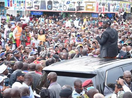 Ruto Attracts Larger Crowd During Mt Kenya Region Tour on Sunday