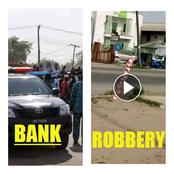 Video: Watch The Moment Armed Robbers Stormed A Bank In Warri