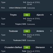 Cheki Mechi Za Leo! 5 Matches To Win