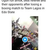 Pandemonium At The National Sport Festival As Lagos And Ogun Teams Clash After A Boxing Tournament