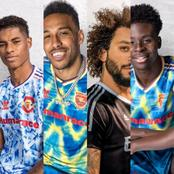 See Cute Photos Of Manchester United, Real Madrid, Arsenal And Bayern Munich's New Prematch Kits.