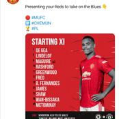 Confirmed Manchester United Lineup VS Chelsea As Ole Hands Rare Start For Player