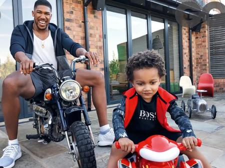 Check Out Cute Pictures of Anthony Joshua And His Son Joseph