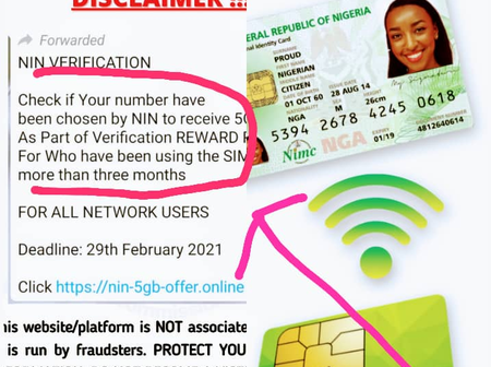 All BVN Holders Who Have Registered For NIN Should Take Note Of This Vital Information From NIMC