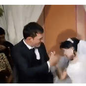 Angry Groom Slaps Bride On Wedding Day For Not Feeding Him With Cake Properly