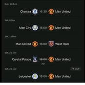 After Manchester United Draw AC Milan, See Their Next Fixtures