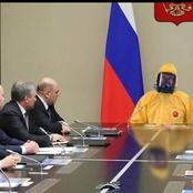 The President of Russia leaves people wondering after he goes overboard on protection.