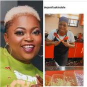 Funke Akindele Cooks Naija Fried Rice, Check Out The Delicious Meal