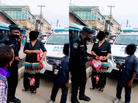 After A Lady's Purse Fell Off From Her In Lagos, See What Police Officers Did That Sparked Reactions
