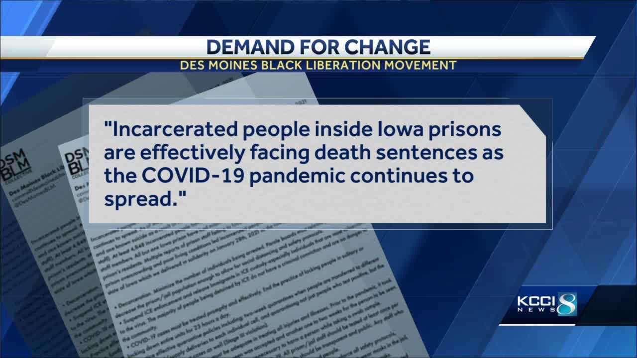 Des Moines BLM calls for improvements to COVID-19 protocols in Iowa prisons