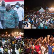 Nana Addo Is Gradually Turning The Volta Region Into NPP Winning Ground With Huge Crowd [Photos]