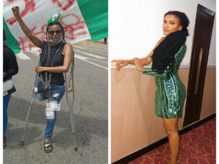 See beautiful photos of the one limb lady that got over N4m in the ENDSARS protest