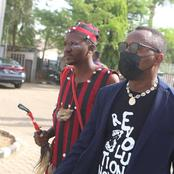 See Photos Of Sowore And The juju Man That Followed Him To Court Today