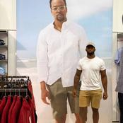 Maps Maponyane and his fans left in stitches by Siya Kolisi's picture posing next to his picture.