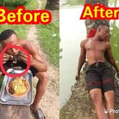 See how this man ended up after eating a Frog cooked with noodles (Photos)