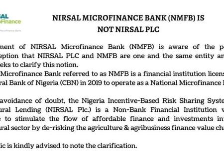 After CBN Order to NIRSAL PlC, See The Current Memo Released by NMFB To Their Customers