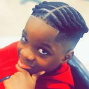 Fans react as Wizkid's first son, Boluwatife shares pictures of new hairstyle (Pictures + reactions)