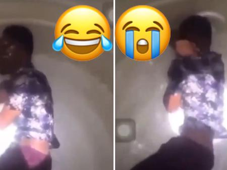 Young Man Filmed Cries Bitterly In A Polytank After Suffering Broken Heart From His Lover - Video