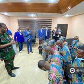 Pastor Enoch Adeboye Visits Members Of RCCG Who Were Recently Released By Kidnappers