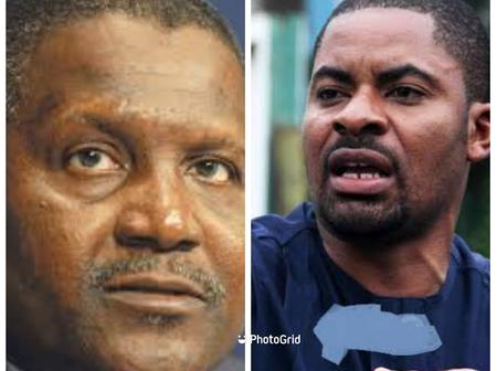 Mixed Reaction As Deji Adeyanju Compares The Price Of Dangote's Cement In Zambia To Nigeria
