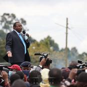 [Photos] Smart and Neatly Dressed President Uhuru Campaign for BBI in Nyeri