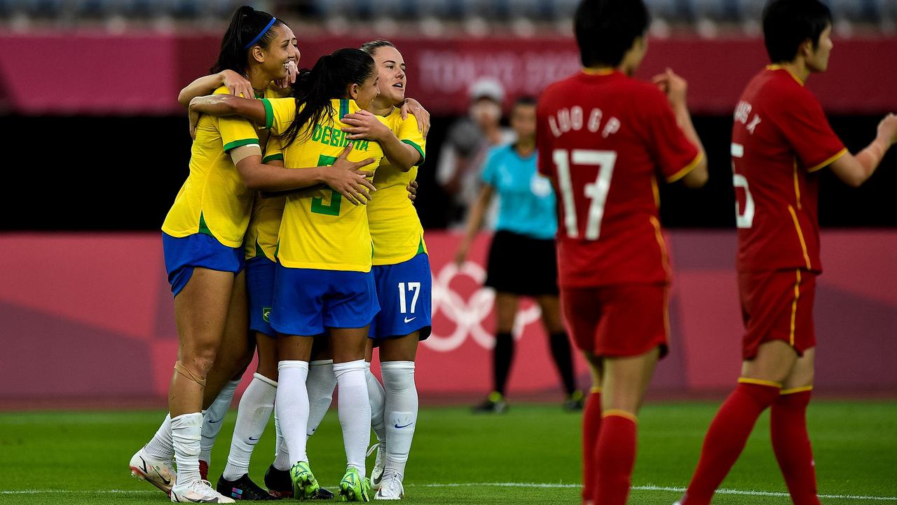 Olympics women's football: China suffer heavy loss to Brazil, U.S. stunned by Sweden