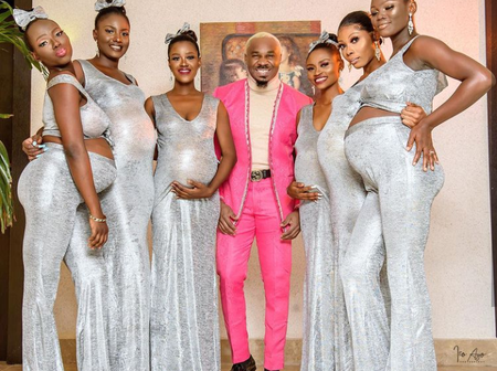 How Did He Do It? Pretty Mike Steps Out With 6 Pregnant Women