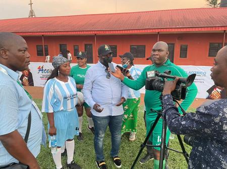 Richard Edebiri Represents Edo Deputy Governor at NSE Founders Day Novelty Match.