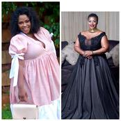 Mangcobo from Uzalo left fans speechless with her recent pictures looking stunning in her dress.