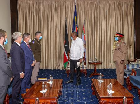 President Uhuru Meets With US Military Chiefs, Few Hours After Somalia Cut Diplomatic Ties