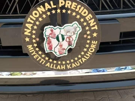 Check out what Was found on the Flashy car of Miyetti Allah's leader that sparked reactions online
