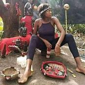 See Photo Of A Lady In A Shrine That Sparked Reactions On Social Media