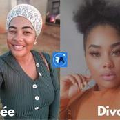 Une femme partage deux photos d'elle