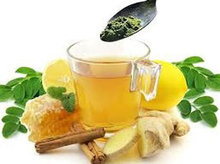 Health Benefits Of Drinking Boiled Moringa Leaves, Ginger And Lemons In The Evening
