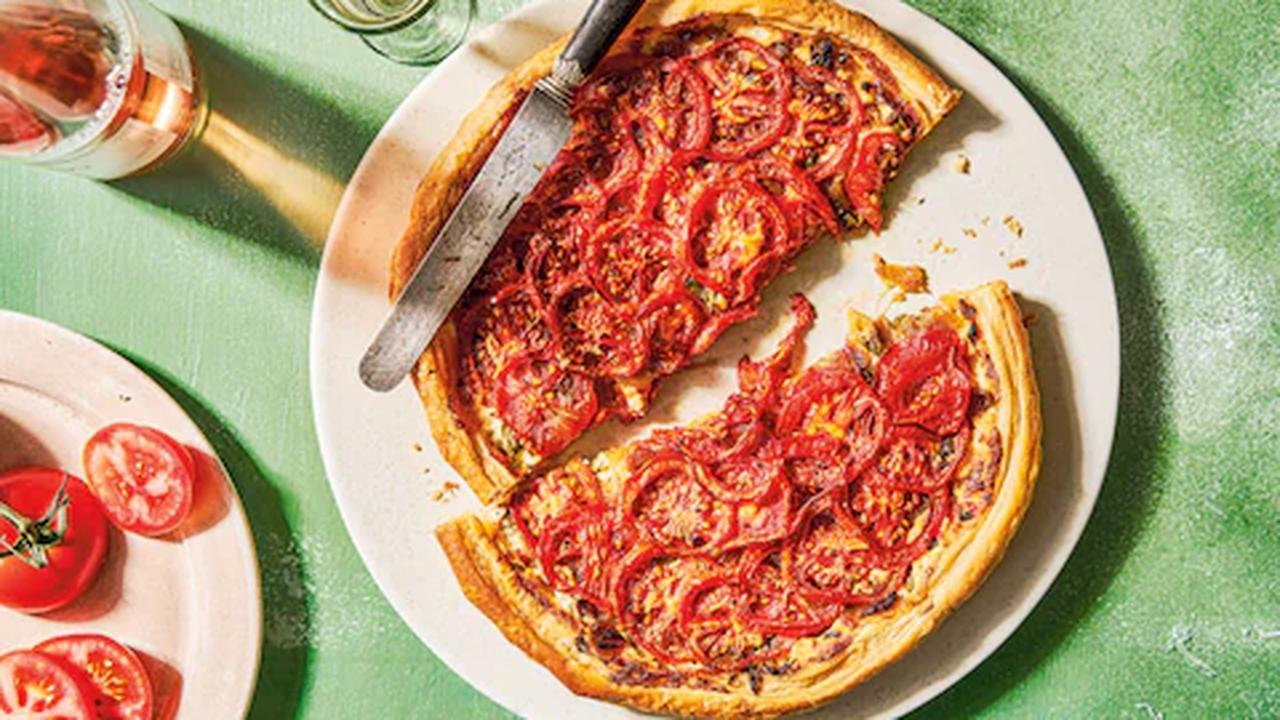 Herbed tomato and onion galette recipe